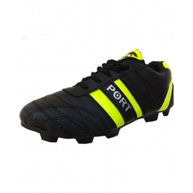 Port Trainer Black Football Shoes