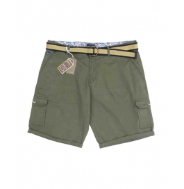 Casual Printed Cotton Shorts For Mens ( Green )