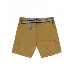 Casual Printed Cotton Shorts For Mens ( Brown )