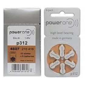 Powerone P312 Hearing Aid Battery Power One 6x2 12 Pcs Pack