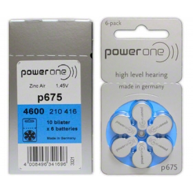 Powerone Hearing Aid Batteries Powerone P 675