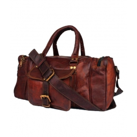 House Brown Solid Duffle Bag