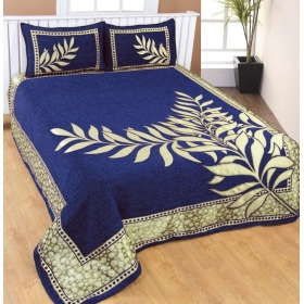Velvet Printed Double Bedsheet(set Of Printed Velvet Bedsheet With 2 Pillow Covers