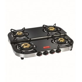 Prestige Royale Dgt 04 Ss Glass Top Gas Stoves