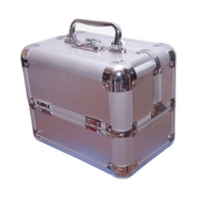 Silver Vanity Kit And Pouches - 1 Pc
