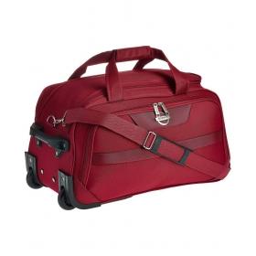 Maroon Solid Duffle Bag