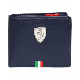 Puma Clue Faux Leather Blue Sport Short Wallet