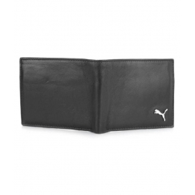 Puma F1 Leather Black Casual Regular Wallet
