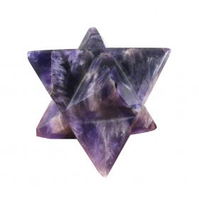 Amethyst Purple Merkaba Star Large Crystal Sacred Geometry Quartz Reiki Point 8 Healing