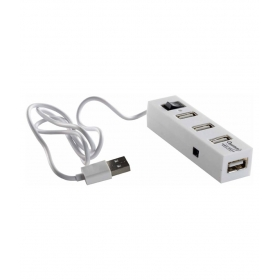 Qhm6660 4 - Port Usb Hub - White