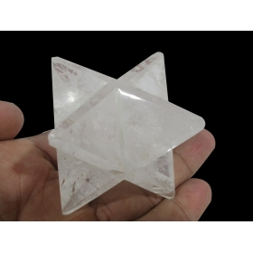 Quartz Crystal Merkaba Star Large Crystal Sacred Geometry Reiki Point 8 Healing
