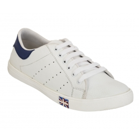 Blinder  White Blue Casual Shoes