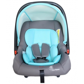 Rabbit Picaboo - Infant Car Seat Cum Carry Cot (grey Blue)