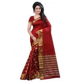 Raj Red Round Saree