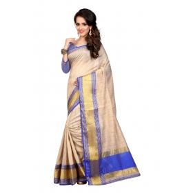Raj Simple Blue Saree