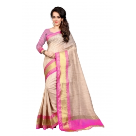 Raj Simple Pink Saree