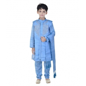 Sarees Turquoise Sherwani