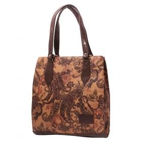 Brown P.u. Shoulder Bag