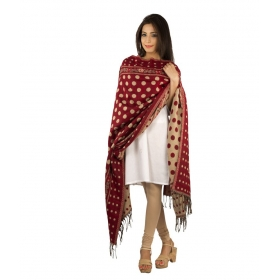 Red Polka Dotted Shawl