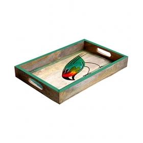 Rectangle Wooden Bar Tray 1 Pcs