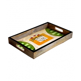 Rectangle Wooden Bar Tray 1 Pcs