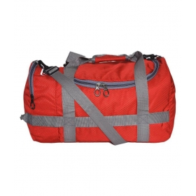 Orange Solid Duffle Bag