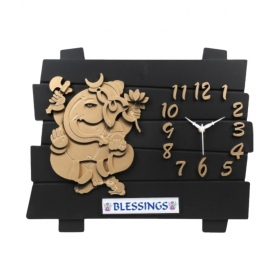 Rectangular Ganesh Analog Wall Clock - Mgb 12