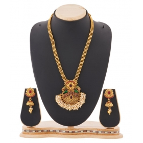 Jewellery Peacock Golden Necklace Set For Women