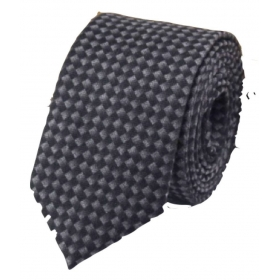 Regali Collections Black Dots Woven Necktie
