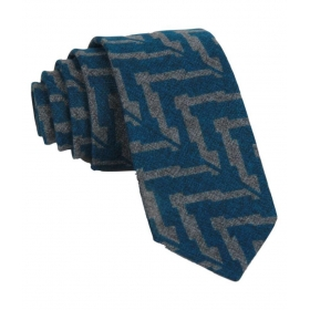 Regali Collections Blue Abstract Woven Necktie
