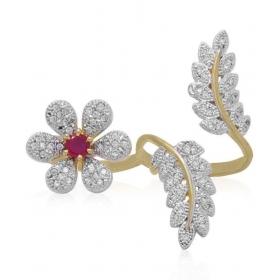 American Diamond Doubble Finger Ring