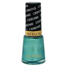Revlon Chrome Nail Enamel Nail Polish Green Teal Chrome Glossy 8 Ml