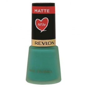 Revlon Nail Enamel Nail Polish Green Marine Matte Matte 8 Ml