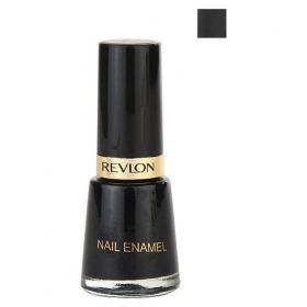 Revlon Nail Enamel Nail Polish Black Black Natural 8 Ml