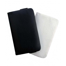 Leather Soft Carry Case For Spice Stellar Mi-362 Mobile Handpouch Cover White