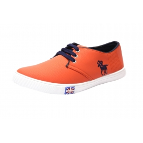 Blinder Orange Navy Blue Casual Shoes