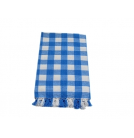 Tidy White With Blue Checked Design 100% Exclusive Cotton Bath Towel - Pack 1 Piece