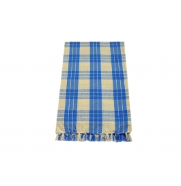 Tidy Yellow With Blue Checked Design 100% Exclusive Cotton Bath Towel - Pack 1 Piece