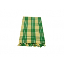 Tidy Yellow With Green Checked Design 100% Exclusive Cotton Bath Towel - Pack 1 Piece
