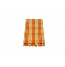 Tidy Yellow With Orange Checked Design 100% Exclusive Cotton Bath Towel - Pack 1 Piece