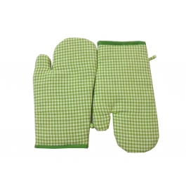 Tidy Light Green Colour Exclusive Cotton Hand Glove Kitchen Linen - Pack Of 2pcs