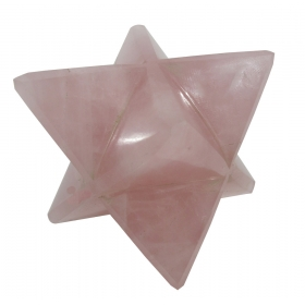 Rose Quartz Pink Merkaba Star Large Crystal Sacred Geometry Quartz Reiki Point 8 Healing