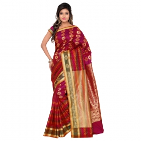 Kanchipuram Silk Saree Color Rani