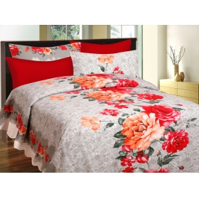 CTM TEXTILE MILLS 100% COTTON PIGMENT DOUBLE BEDSHEET with 2 PILLOWCOVER HIGH WASH FASTNESS AND SOFT FINISH