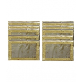 Golden Saree Cover - Pack Of 10