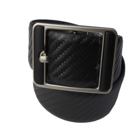 Men Formal Black Genuine Leather Reversible Belt  (black)