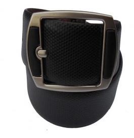 Men Formal Black Genuine Leather Reversible Belt  (black)