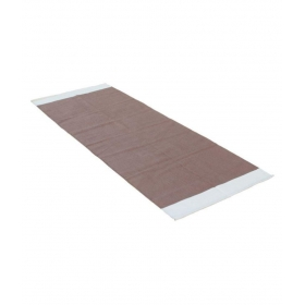100% Cotton Plain Yoga Mat ( Brown & White ) L - 194 Cm X 72 Cm ( L X B )