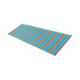 100% Cotton Yoga Mat ( Blue & Brown ) - 183 L X 64 B ( Cm )