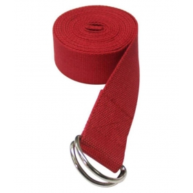 8 Ft Premium Perfect For Stretching, Holding Poses, Improving Flexibility & Physical Thearpy Cotton Yoga Strap (red)